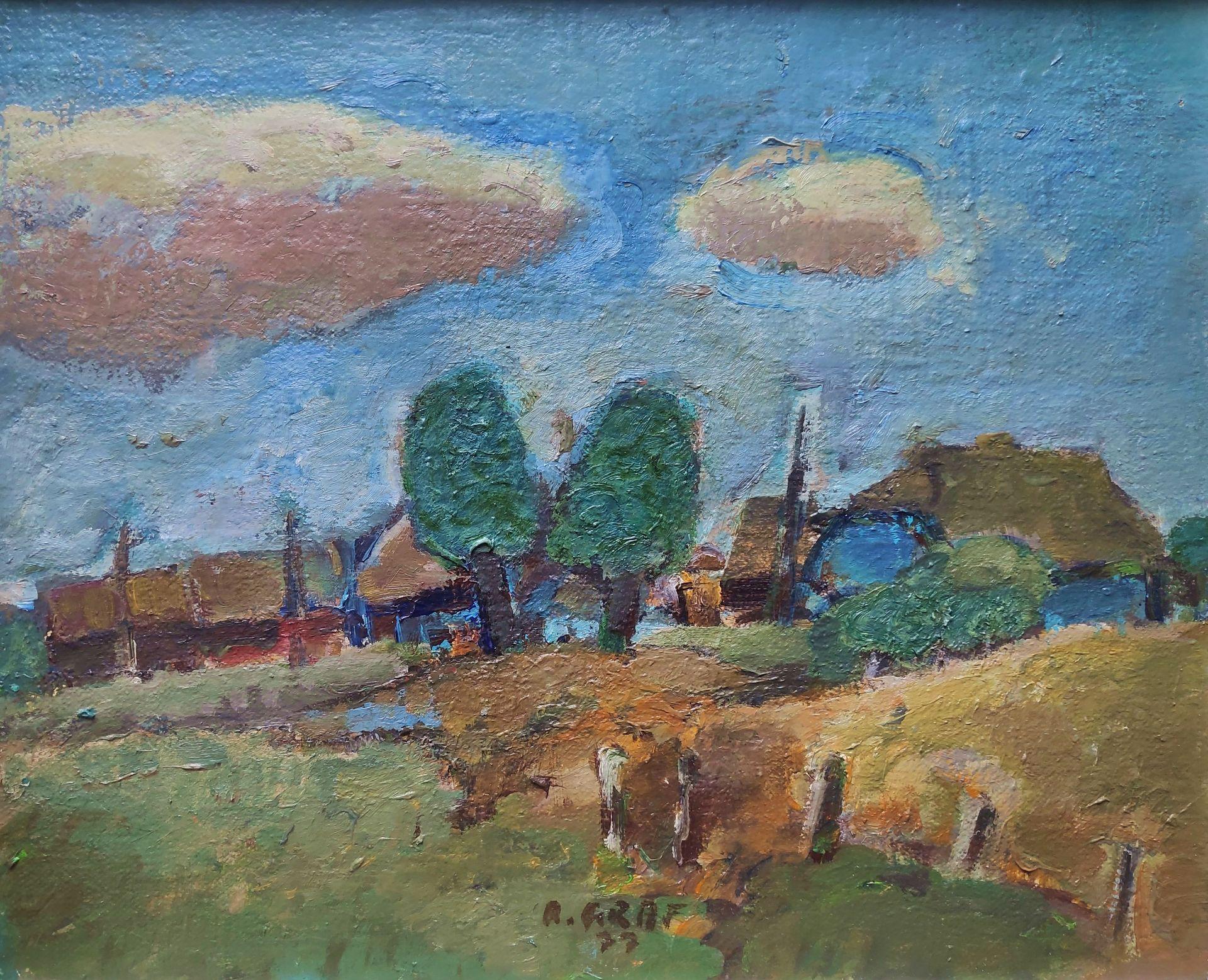 """Graf, Rudolf (1936 Neupetershain - 1981 Cottbus) """"Darsslandschaft II"""""""