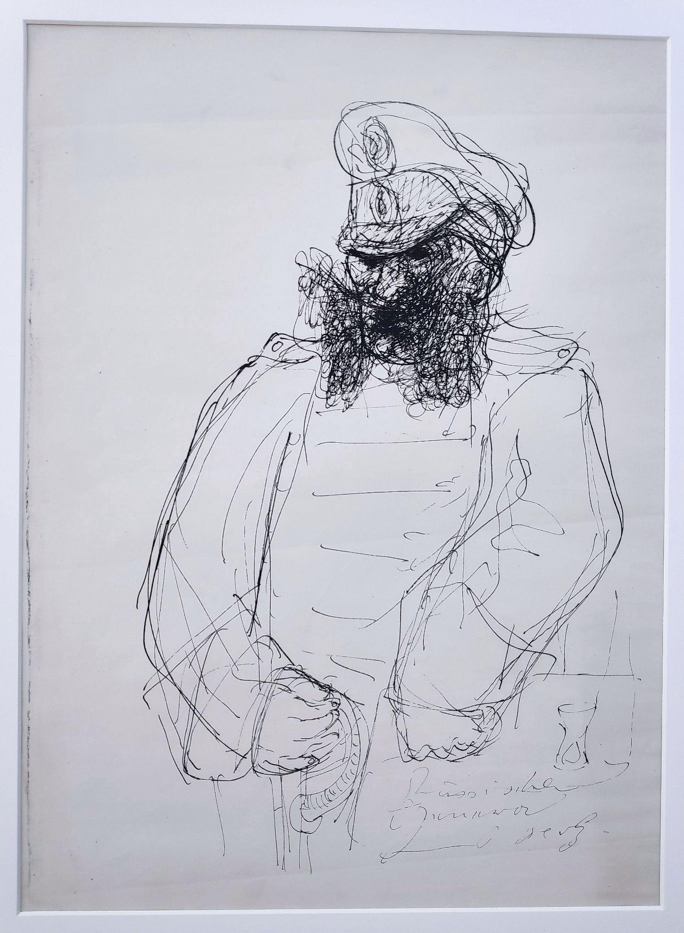 """Holz, Paul (1883 Riesenbrück bei Pasewalk - 1938 Schleswig) """"Russischer General - Zu Dostojewski"""""""