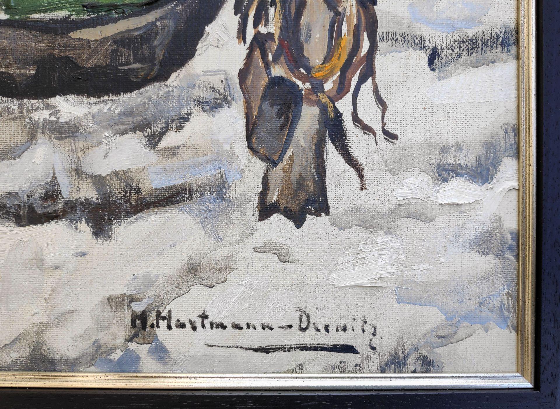 """Hartmann-Drewitz, Hermann (1879 Berlin - 1966 Eutin) """"Fischerboot im Schnee"""" - Bild 3 aus 3"""