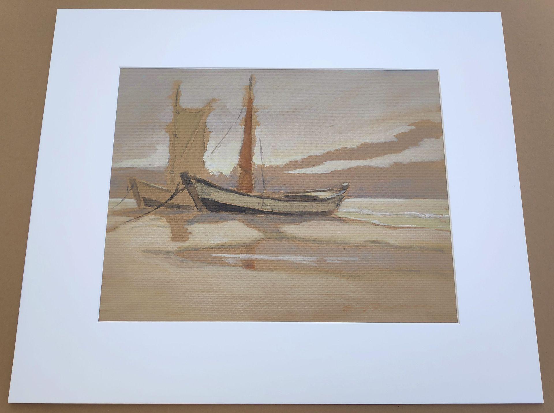 """Jaeckel, Erich (1901 Ahlbeck - 1947 Bansin) """"Zeesboote am Ostseestrand"""" - Bild 3 aus 5"""