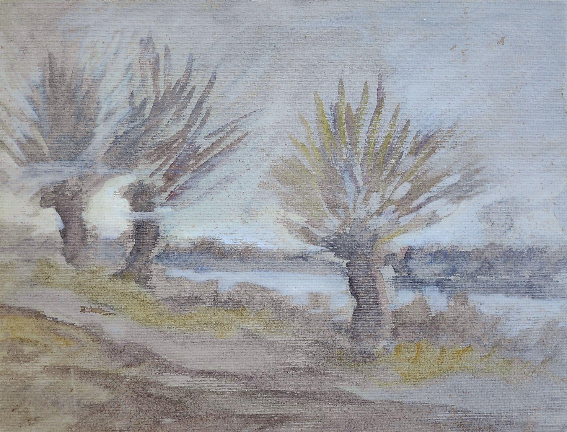 """Jaeckel, Erich (1901 Ahlbeck - 1947 Bansin) """"Zeesboote am Ostseestrand"""" - Bild 5 aus 5"""
