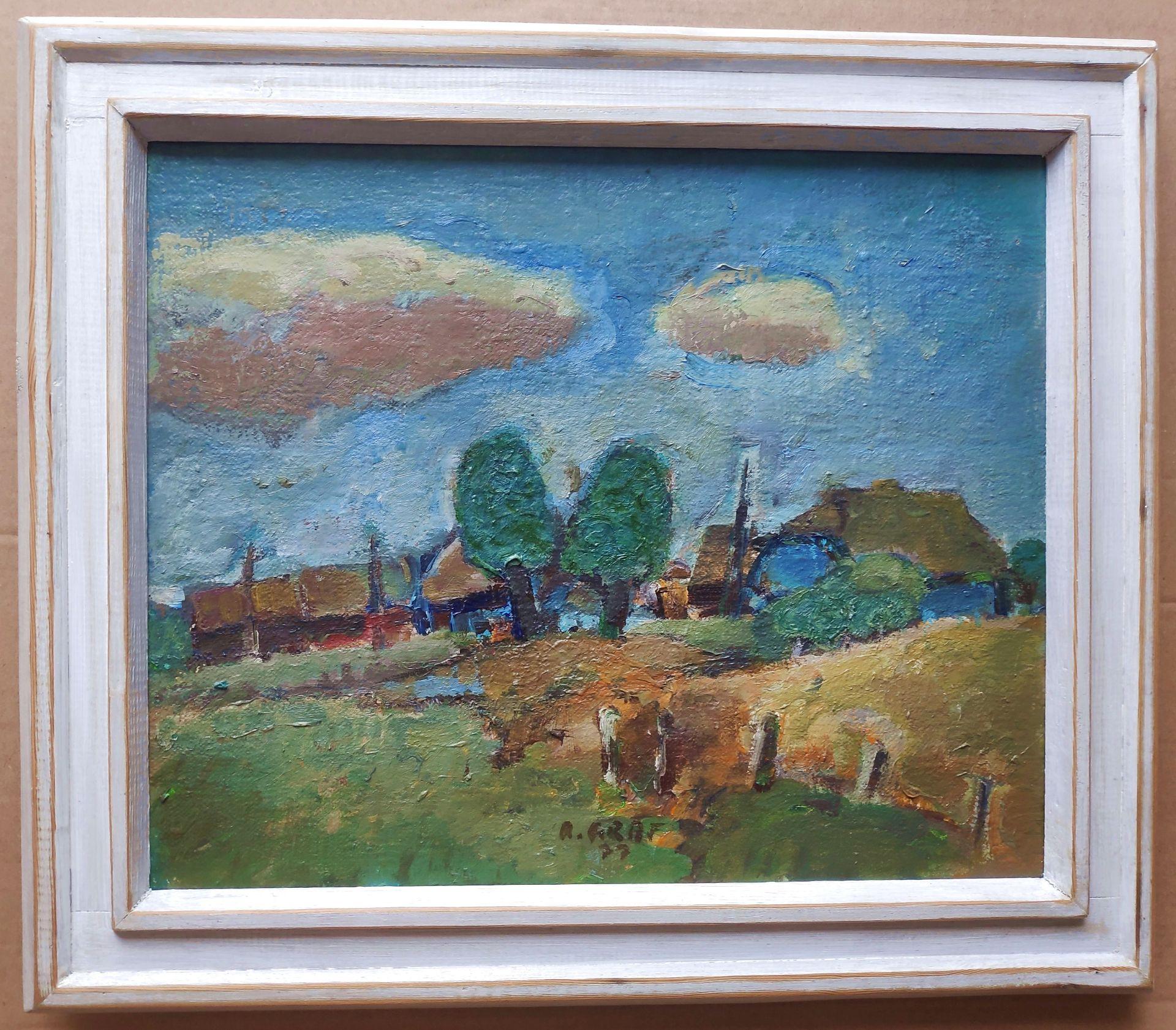 """Graf, Rudolf (1936 Neupetershain - 1981 Cottbus) """"Darsslandschaft II"""" - Bild 2 aus 3"""
