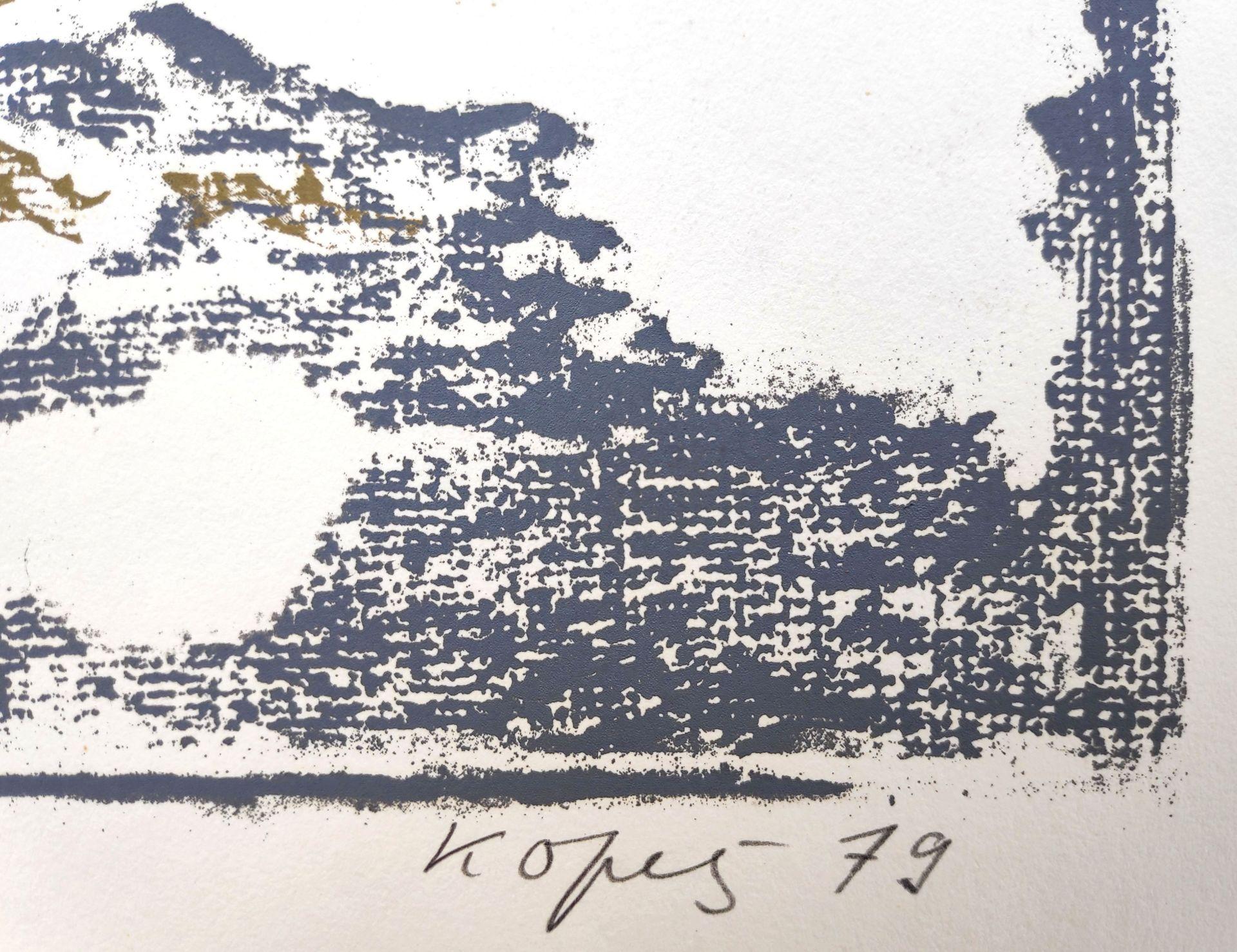 """Kopetz, Vera (1910 St. Petersburg - 1998 Ückeritz) """"Schneefleck mit Wasserhühnern"""" - Bild 3 aus 3"""