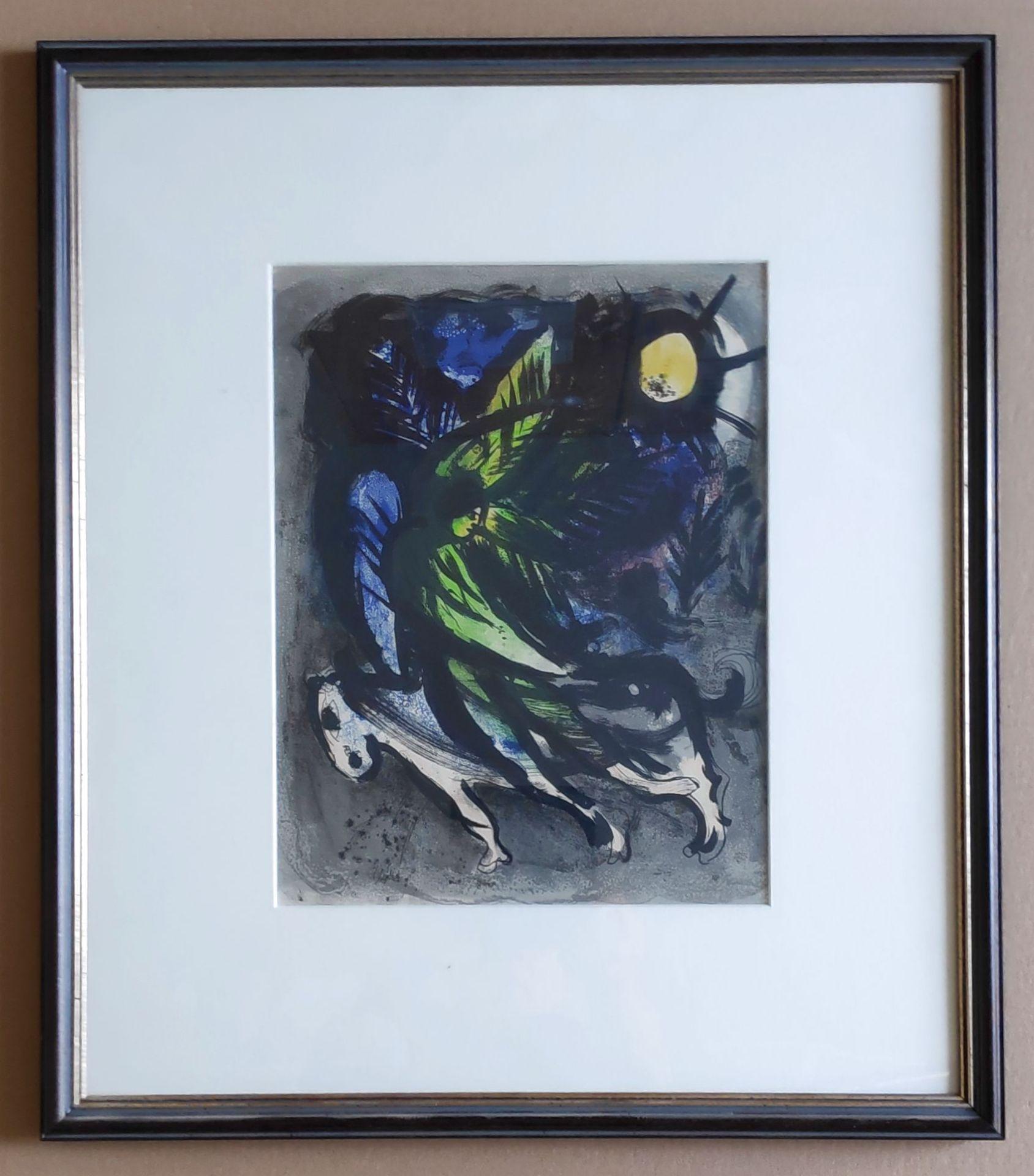"""Chagall, Marc (1887 Witebsk – 1985 Saint-Paul-de-Vence) """"L' ange survolant la forêt"""" - Bild 2 aus 2"""