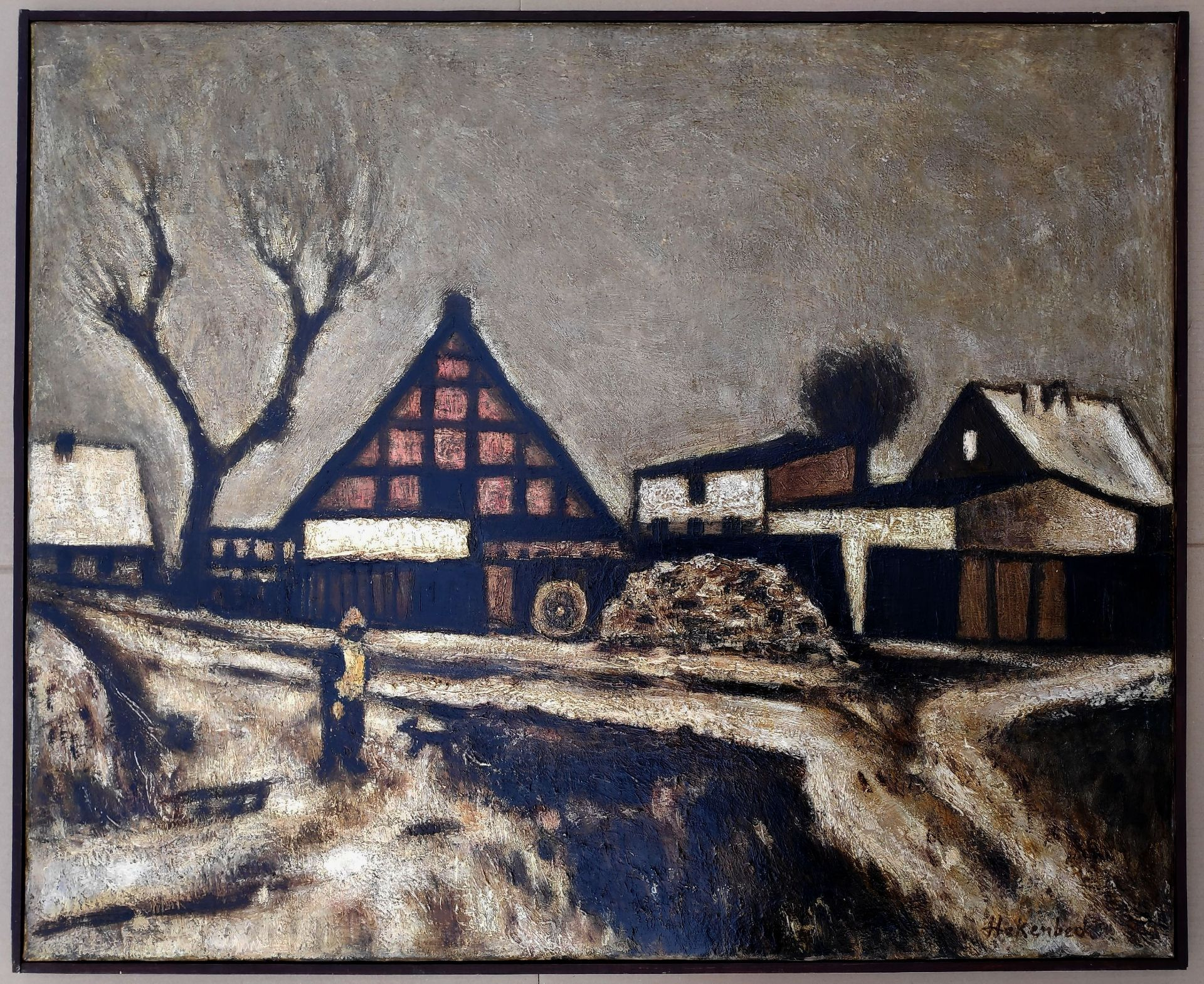 """Hakenbeck, Harald (1926 Stettin, lebt in Berlin) """"Altwarp am Stettiner Haff"""" - Bild 2 aus 3"""