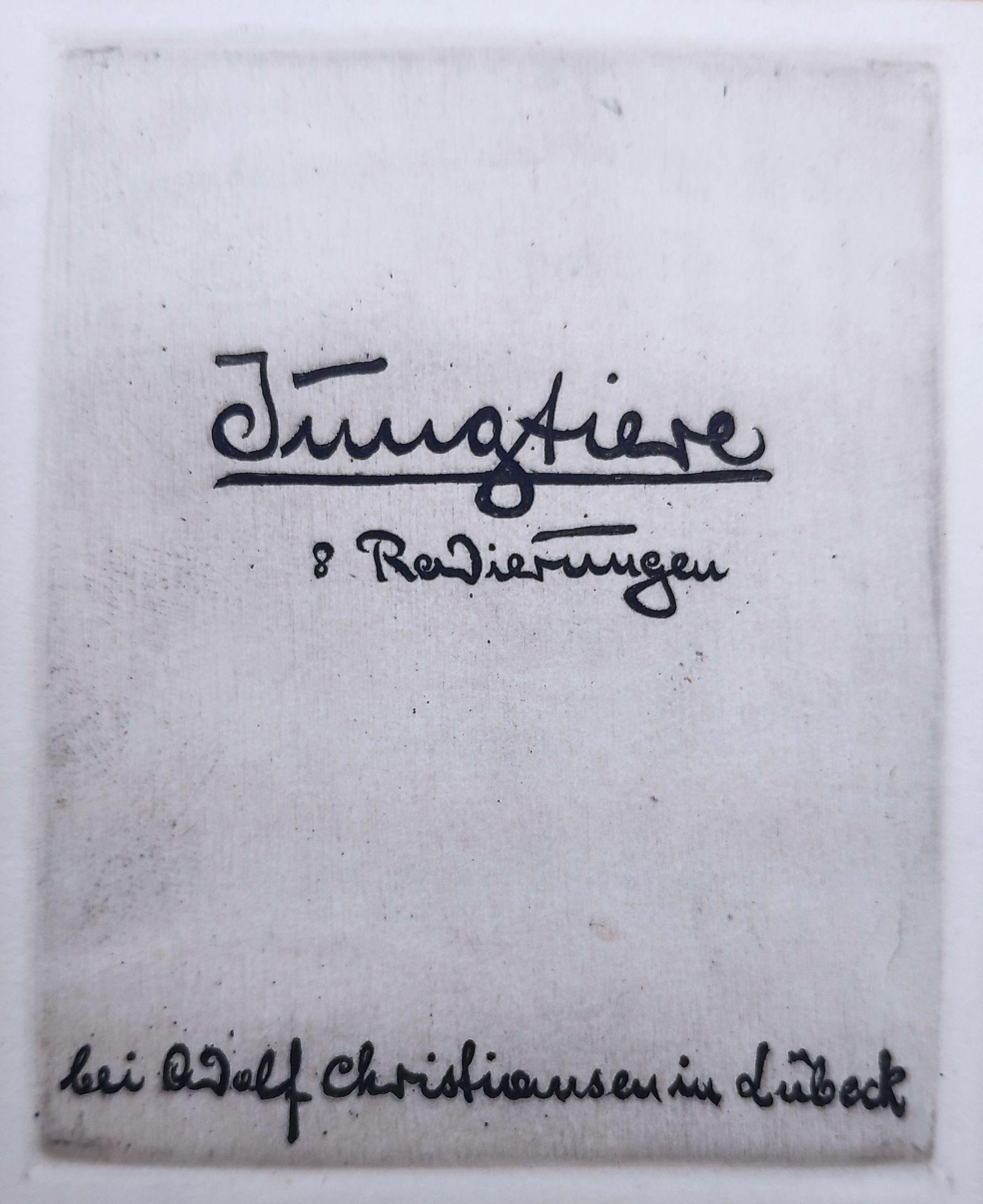 """Glas, Erich (1873 Berlin - 1973 Haifa) """"Jungtiere"""" - Bild 4 aus 9"""