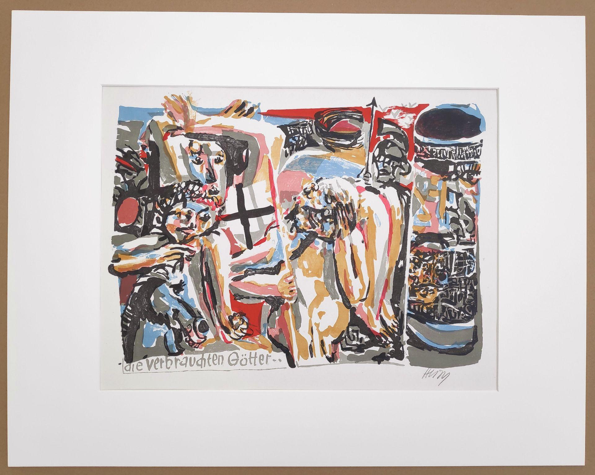 """Heisig, Bernhard (1925 Breslau – 2011 Strodehne) """"Die verbrauchten Götter"""" - Bild 2 aus 3"""