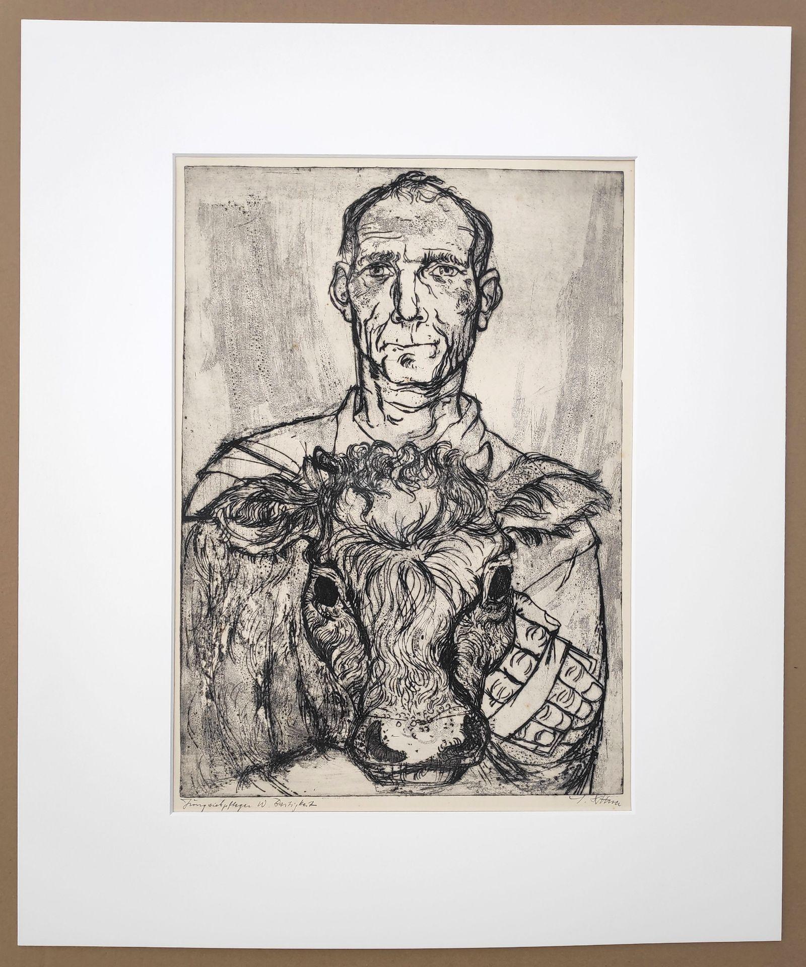 """Dittner, Sieghard (1924 Schneidemühl - 2002 Malchow) """"Jungviehpfleger W. Bastigkeit"""" - Bild 2 aus 4"""