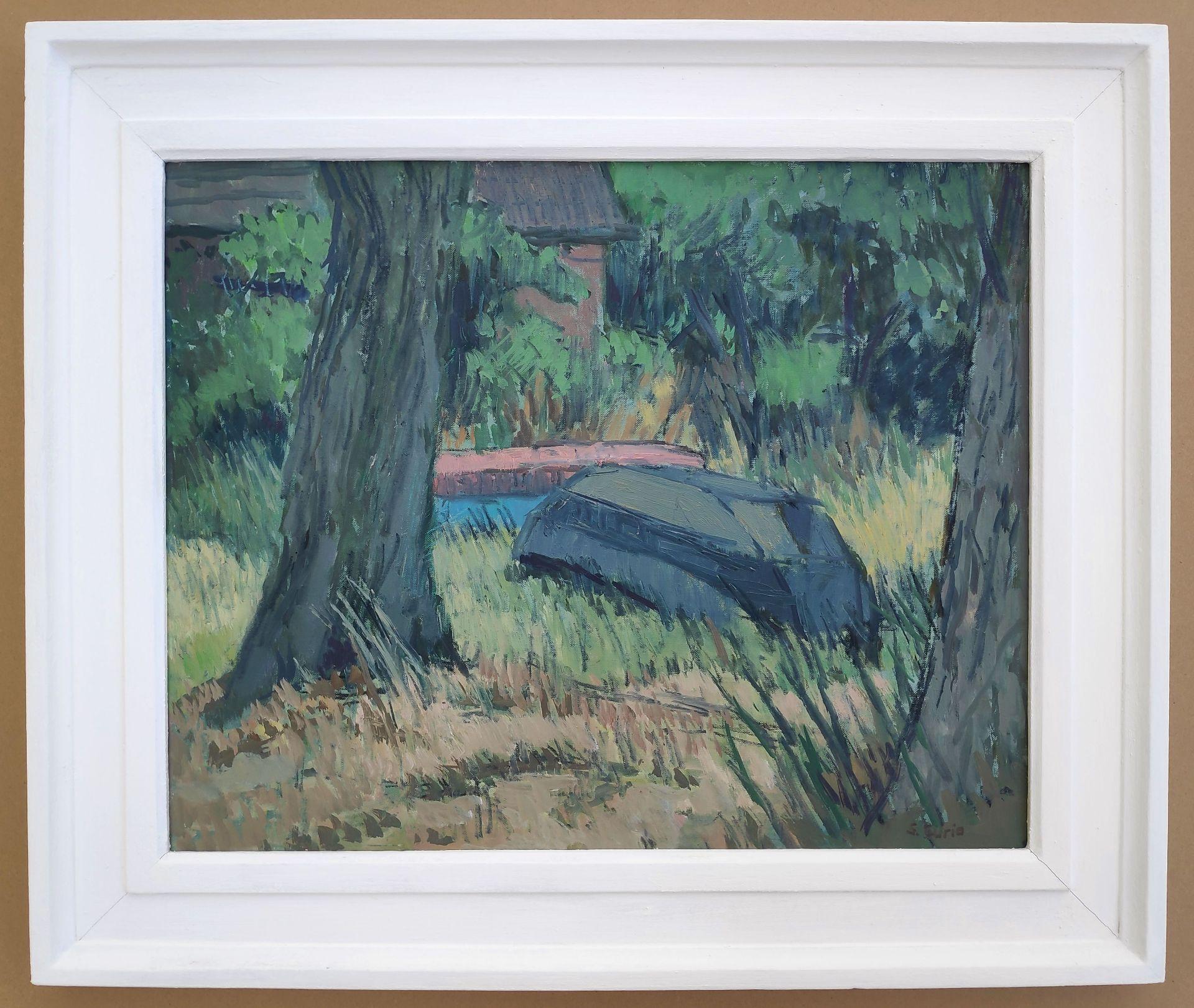"""Curio, Sabine (1950 Ahlbeck , lebt in Stolpe/Usedom) """"Boote zwischen Bäumen"""" - Bild 2 aus 4"""