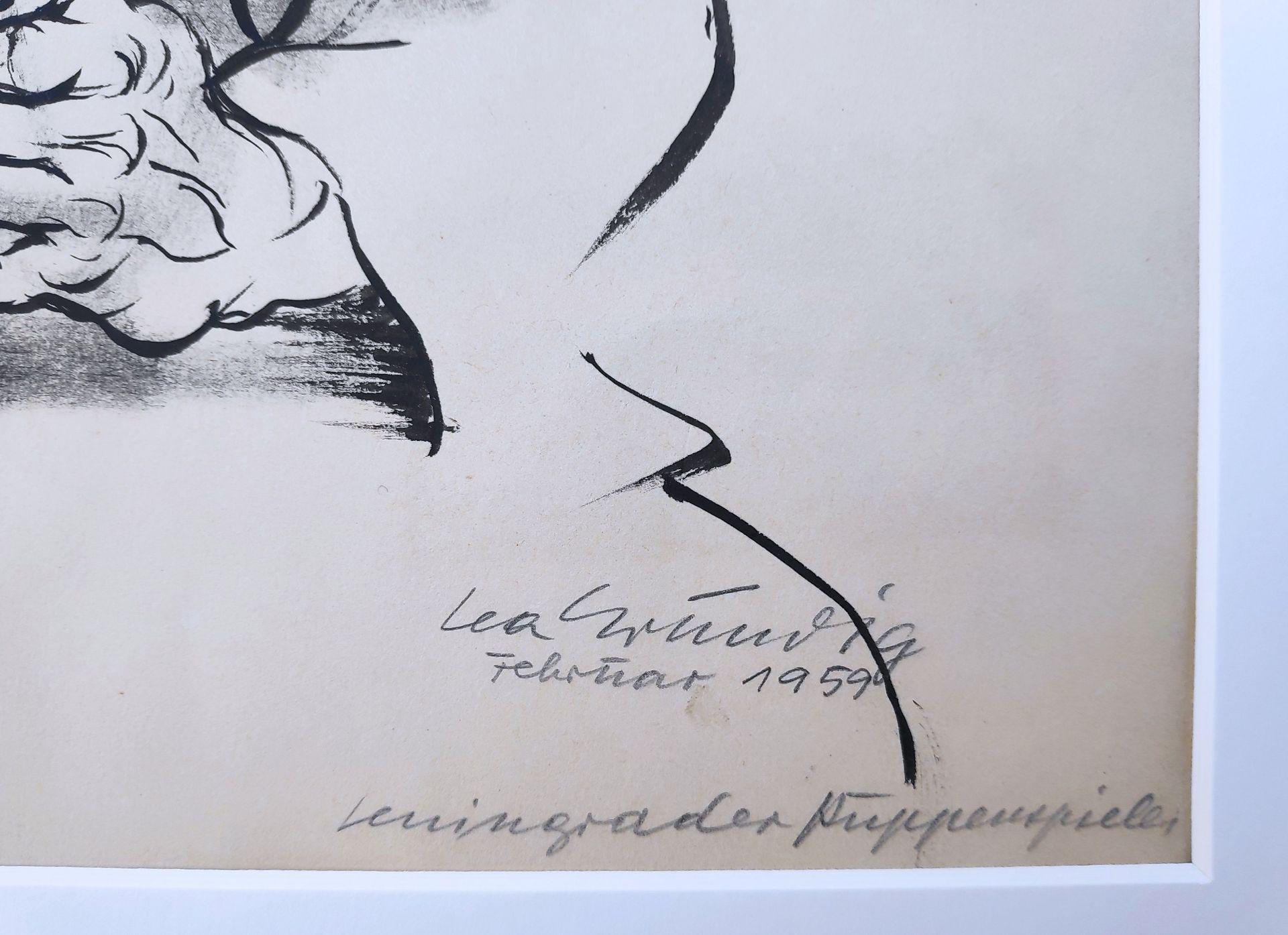 """Grundig, Lea (1906 Dresden - 1977 während einer Mittelmeerreise) """"Leningrader Puppenspieler"""" - Bild 3 aus 3"""