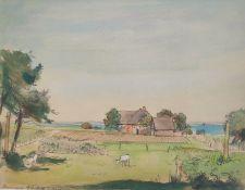 """Kliefert, Erich (1893-Berlin – 1994 Stralsund) """"Katen in Ahrenshoop"""""""