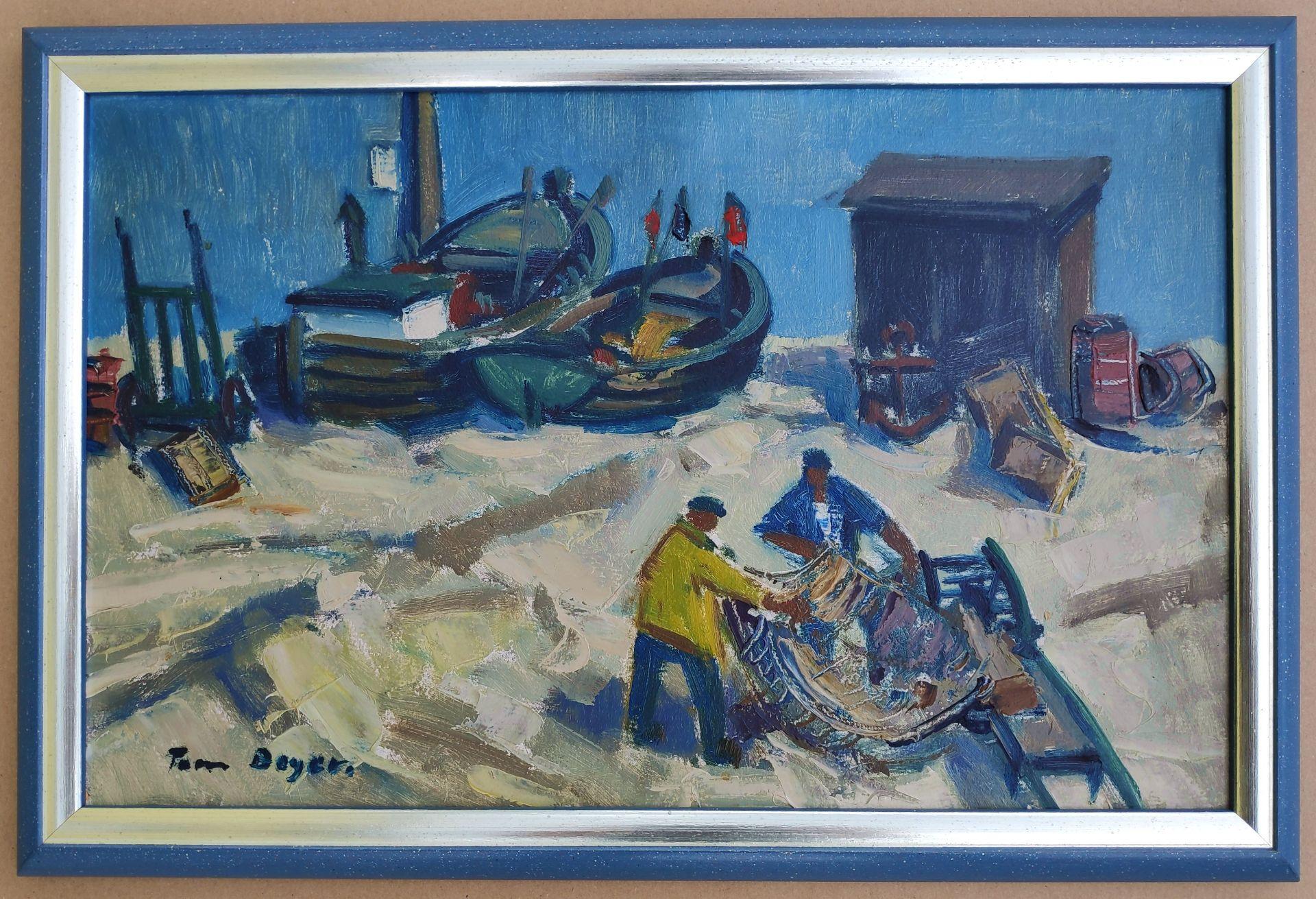 """Beyer, Tom (1907 Münster – 1981 Stralsund) """"Fischer bei der Arbeit"""" - Bild 2 aus 3"""