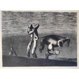 """Mattheuer, Wolfgang (1927 Reichenbach - 2004 Leipzig) """"Kain und Abel"""""""