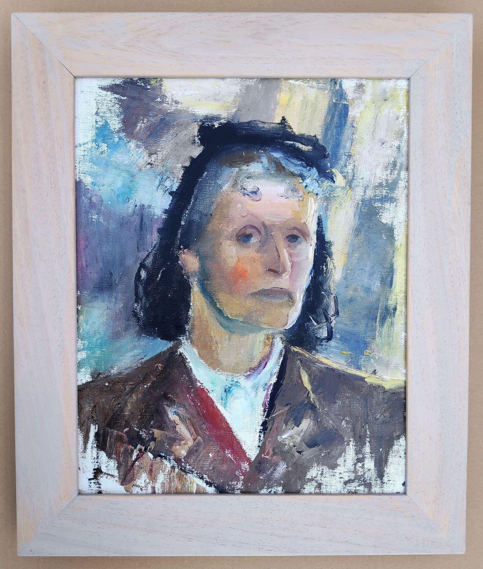 """Holtz-Sommer, Hedwig (1901 Berlin – 1970 Wustrow) """"Selbstportrait"""" - Bild 2 aus 2"""