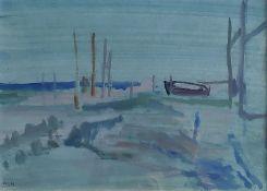 """Holtz-Sommer, Hedwig (1901 Berlin – 1970 Wustrow) """"Seenebel fallend"""""""
