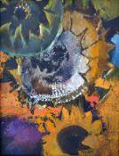 """Womacka, Walter (1925 Obergeorgenthal/Böhmen – 2010 Berlin) """"Blumenstück mit Sonnenblumen"""""""
