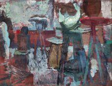 """Müller, Johannes (1935 Endschütz – 2012 Kossow) """"Bildhaueratelier (Jo Jastram)"""""""