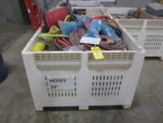 Tote of misc. hoses