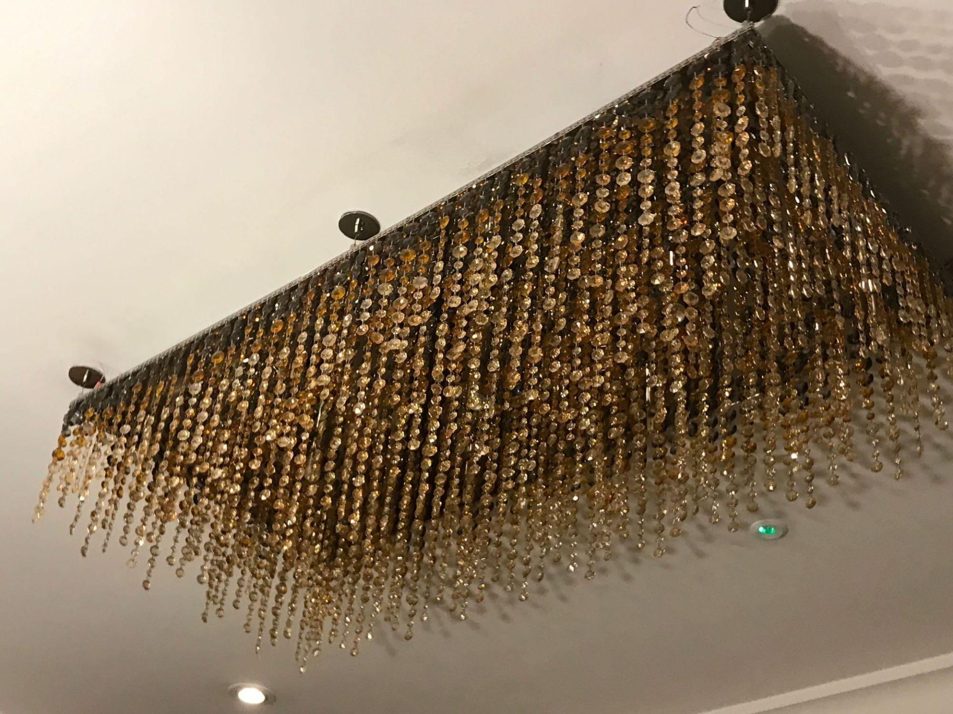 Rectangular Ceiling Pendant Crystal Linear Pendants Rectangular Linear LED Ceiling Light Pendant