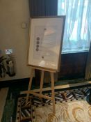 A Pine Artist Easel A Frame With Gold Painted Picture Frame 55cm Tall ( Loc Lobby)