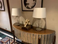A Pair Of R V Astley Caballo Table Lamp 5178 ( Including Shade ) The Caballo Glass Table Lamp With