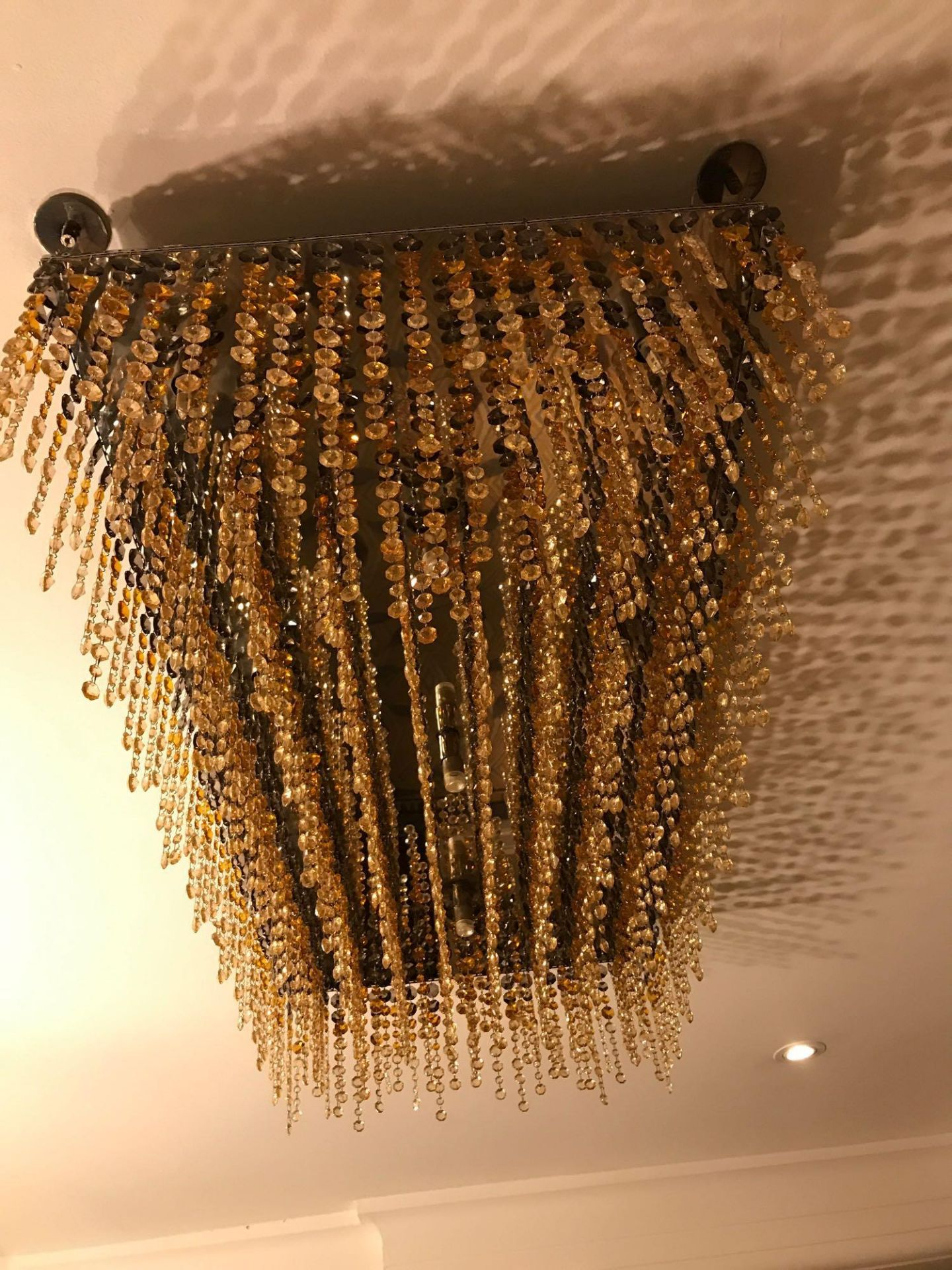 Rectangular Ceiling Pendant Crystal Linear Pendants Rectangular Linear LED Ceiling Light Pendant - Image 2 of 2