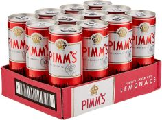 Pimms Lemonade Cocktail Can England ( Bid is for 1 x Case of 12 option to purchase more)