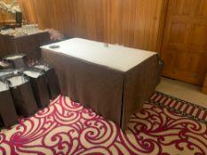 2x Burgees 5ft Slimfold Rectangle Table S14 152x 78x 72cm ( Loc Pine)