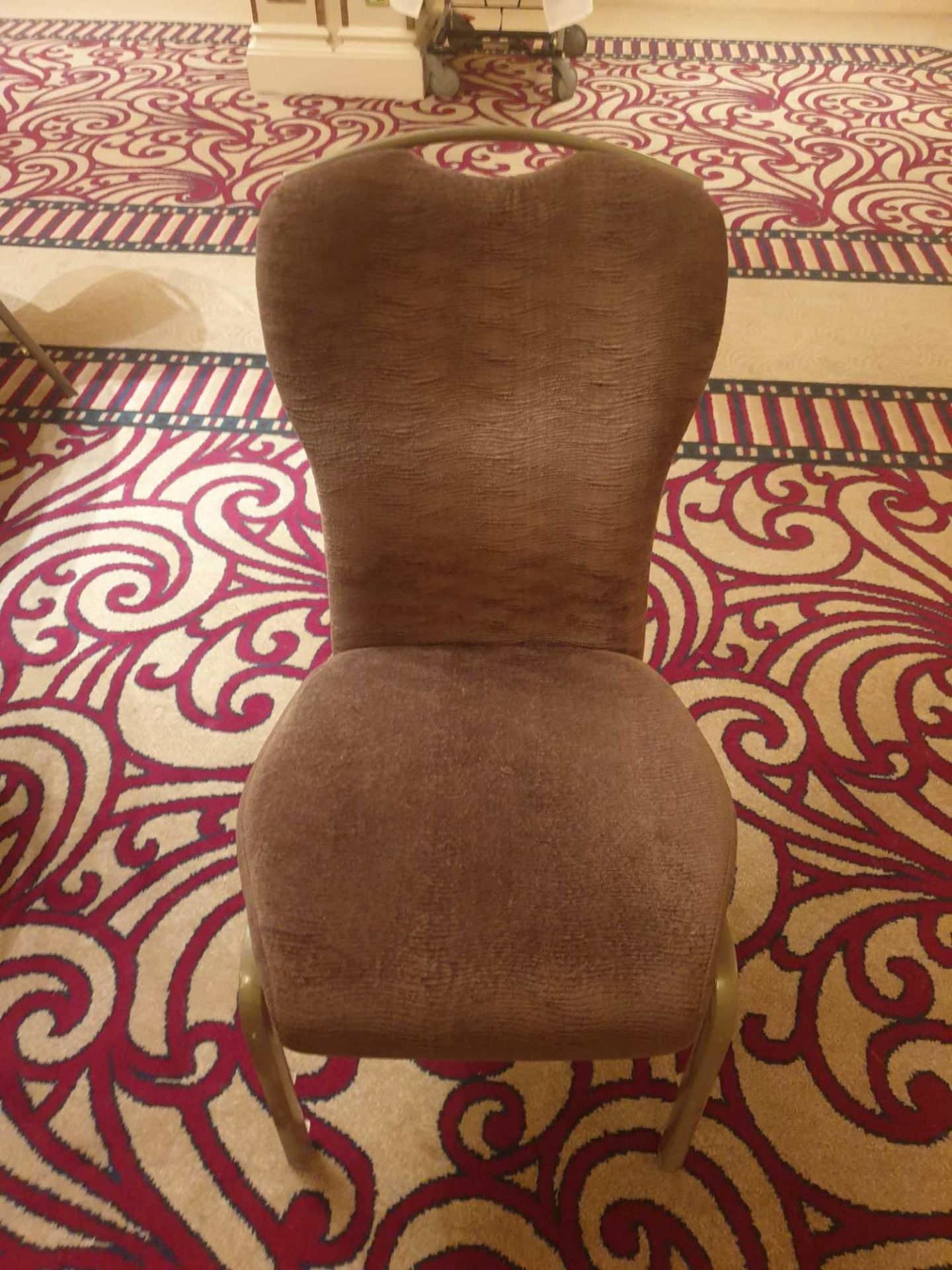 10x Burgess Taupe Upholstered Vario-Allday 21/7 Ergonomic Banqueting Chairs - Image 2 of 2