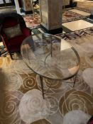 Porta Romana Large Oval And Brass Coffee Table 140 x 87cm x 62cm With A Art Deco Styled Base ( Loc