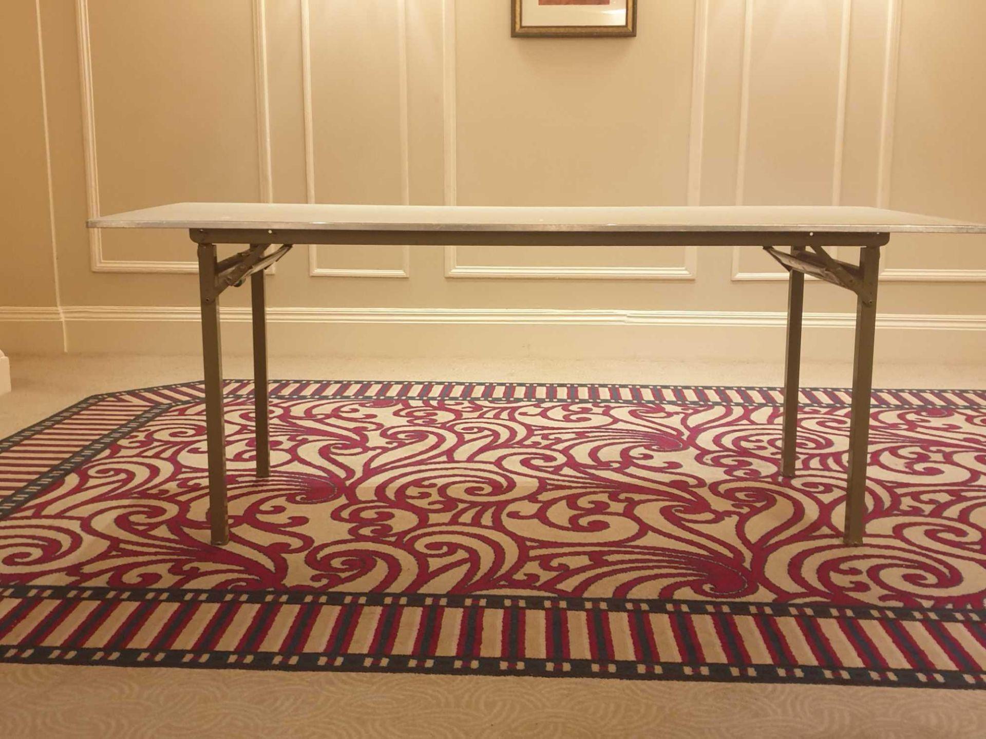 5x Burgess 6ft Folding Flock Padded Rectangular Banquet Table 77x 183x 72cm ( Loc Mount Vernon - Image 2 of 2