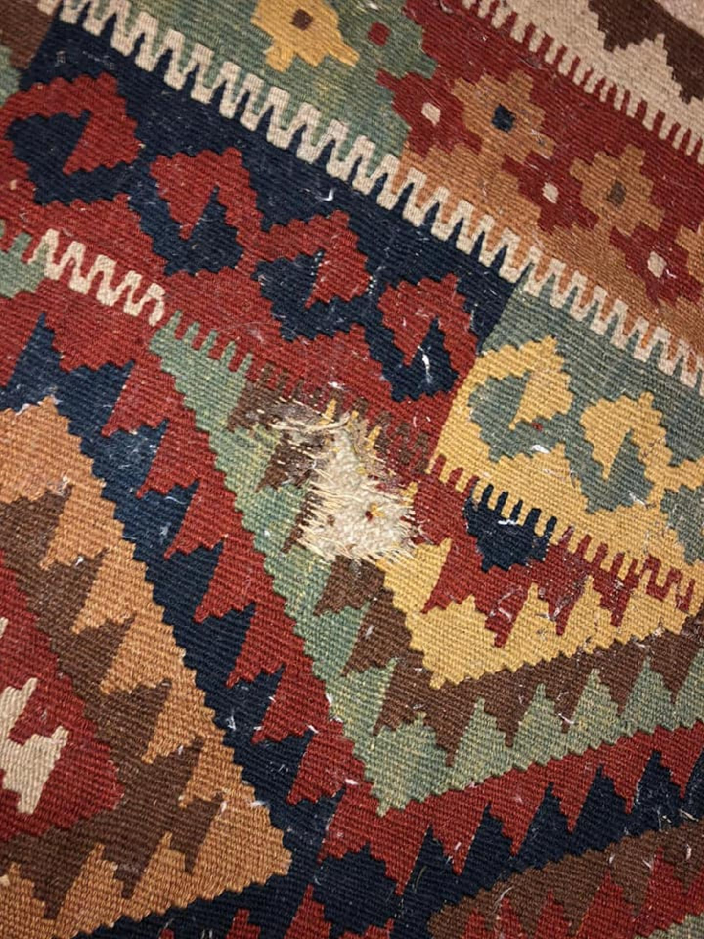 A Vintage Afghani Woven Galmori Rug 100% Short Wool Pile Handmade 180 X 100cm Complete With - Image 4 of 5