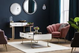 Amberley 4 Drawer Coffee Table Add A Touch Of Decadence And A Sophisticated Atmosphere To Your