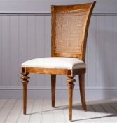 A Pair Of Spire Cane Back Side Chairs This Spire Cane Back Side Chair Combines Traditional English