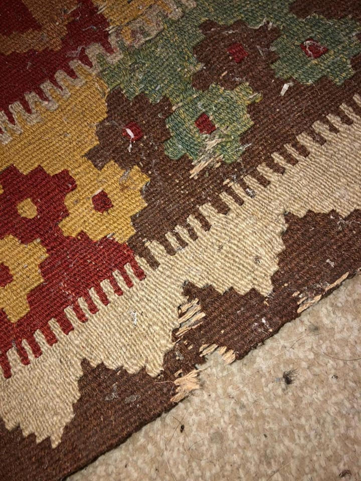 A Vintage Afghani Woven Galmori Rug 100% Short Wool Pile Handmade 180 X 100cm Complete With - Image 3 of 5