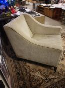 A Pair Of Luxury Upholstered Cream Large Armchairs 84 X 70 X 87cm