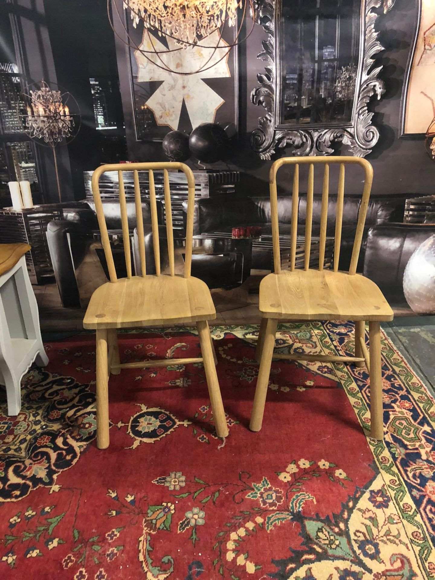 A pair of Wycombe Dining Chairs The Wycombe range made from a combination of the finest solid oak - Image 3 of 5