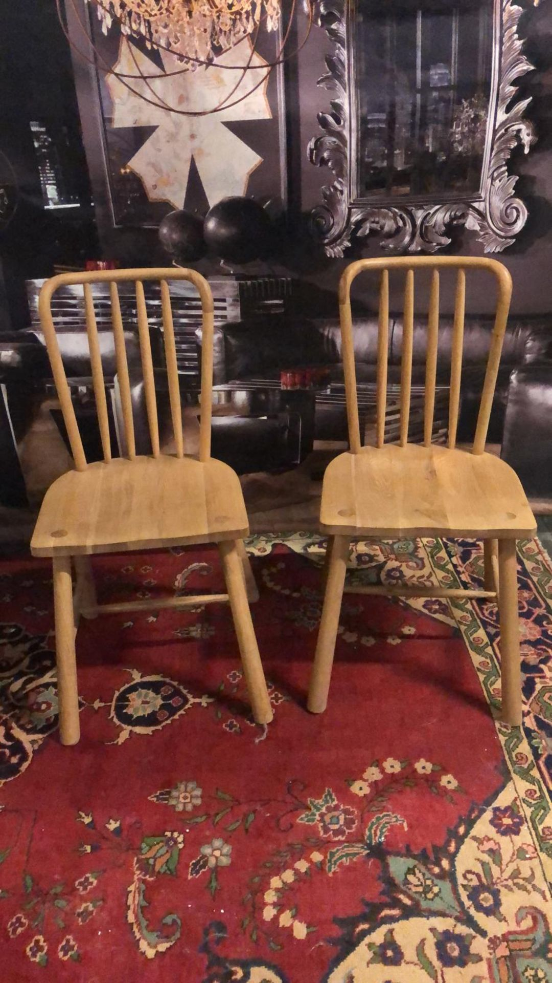 A pair of Wycombe Dining Chairs The Wycombe range made from a combination of the finest solid oak - Image 4 of 5