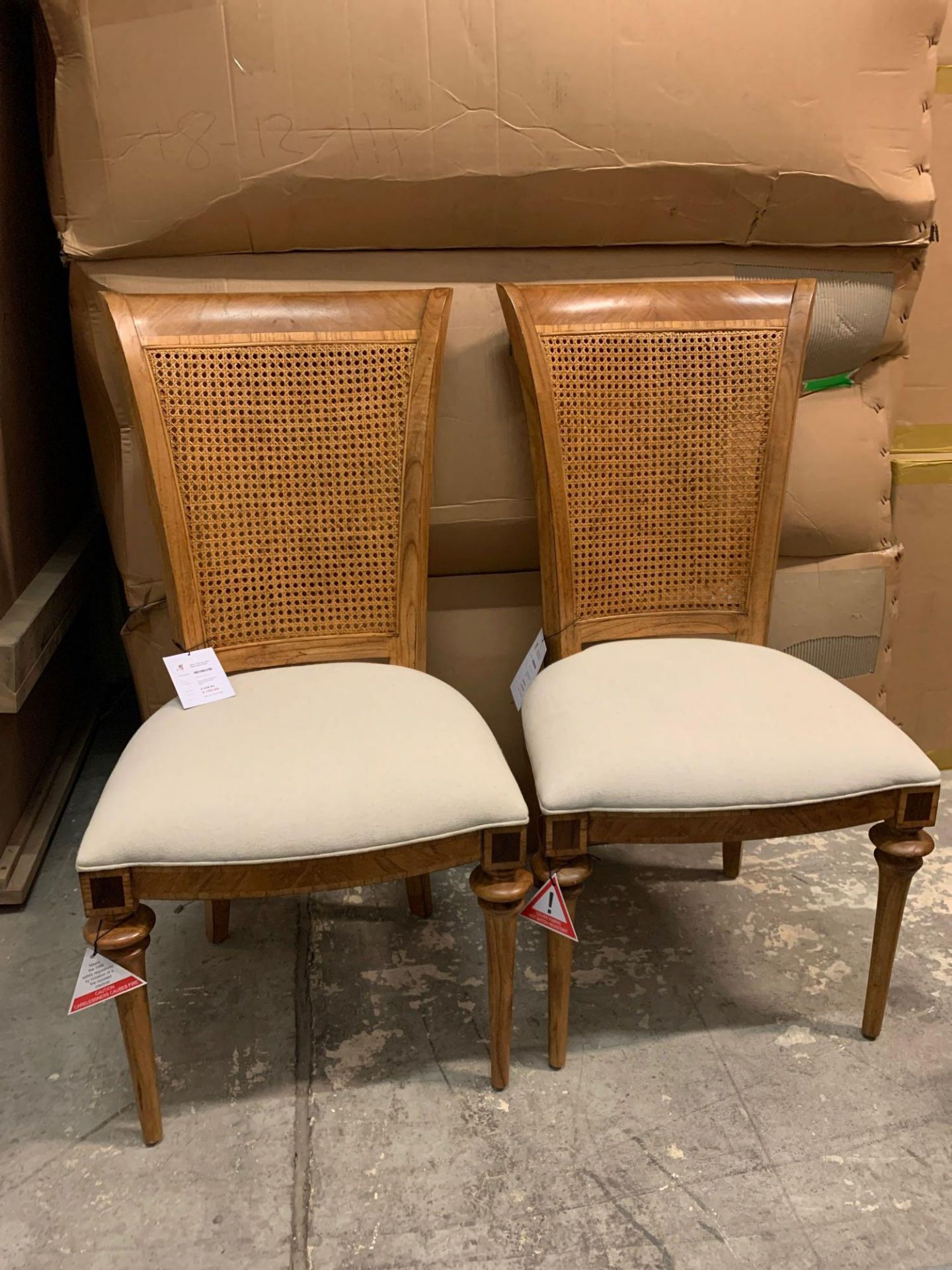 A Pair Of Spire Cane Back Side Chairs This Spire Cane Back Side Chair Combines Traditional English - Image 2 of 5