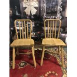 A pair of Wycombe Dining Chairs The Wycombe range made from a combination of the finest solid oak