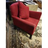 A Pair Of Upholstered Luxury Red Fabric Chairs 80 X 57 X 90cm