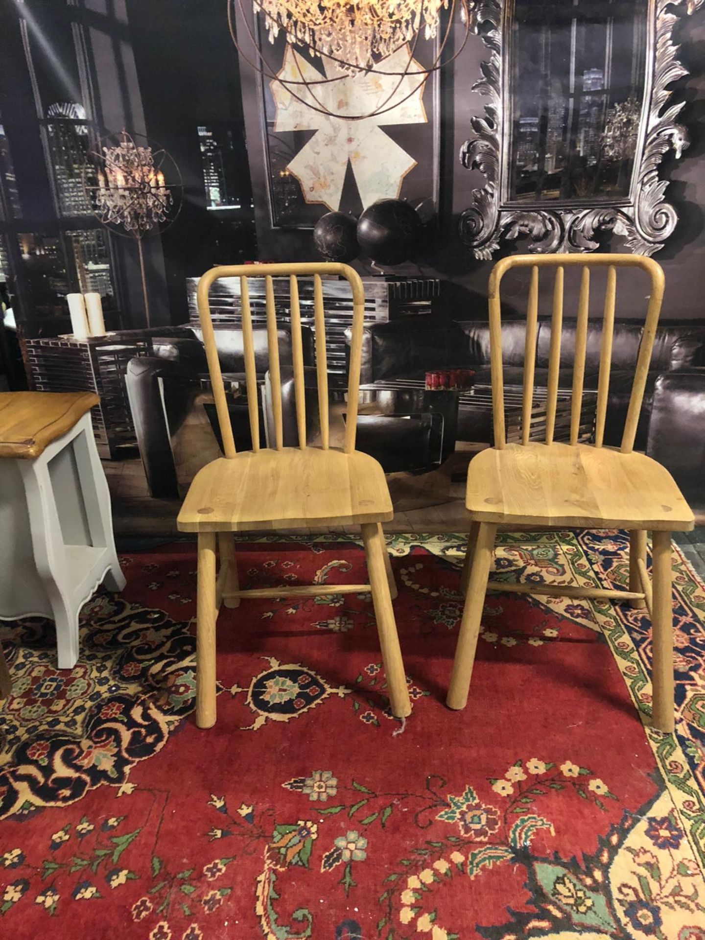 A pair of Wycombe Dining Chairs The Wycombe range made from a combination of the finest solid oak - Image 2 of 5