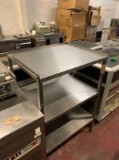 Stainless Steel Commercial 3 Tier Kitchen Shelf 81cm X 67cm X 114cm