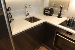 Blum ex- show Apartment Complete U shaped kitchen with base and wall cabinets complete with