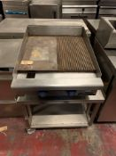 Imperial ITG-24-E Electric Griddle Smooth and ribbed plate Griddle On Mobile Trolley75 X 70 X 95cm