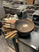 Various Wok Pans as Found