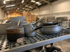A Quantity Of Various Cooking Pots And Pans as Found
