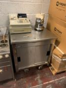 Moffat Commercial Kitchen Mobile Cupboard Two Door Stainless Steel. 82 X 68 X 90cm