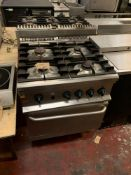 Alpeninox 4 Open Top Gas Burner Range And Oven 70 X 70 X 86cm