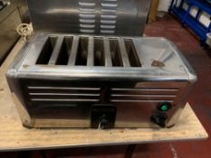 Burco BCTSSL 16 CHR stainless steel six slot toaster